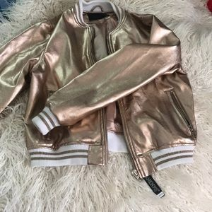 Blank nyc rose gold bomber
